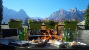Outdoor patio with Mountain Views